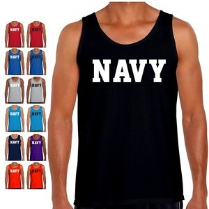 Details about NAVY Tank Top PT US Military Workout Bodybuilding Crossfit  Exercise Gym T Shirt