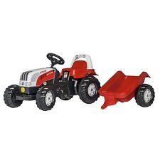 Rolly Toys Steyr 6190 CVT mit Anhänger Traktor Trettraktor ohne Frontlader rot