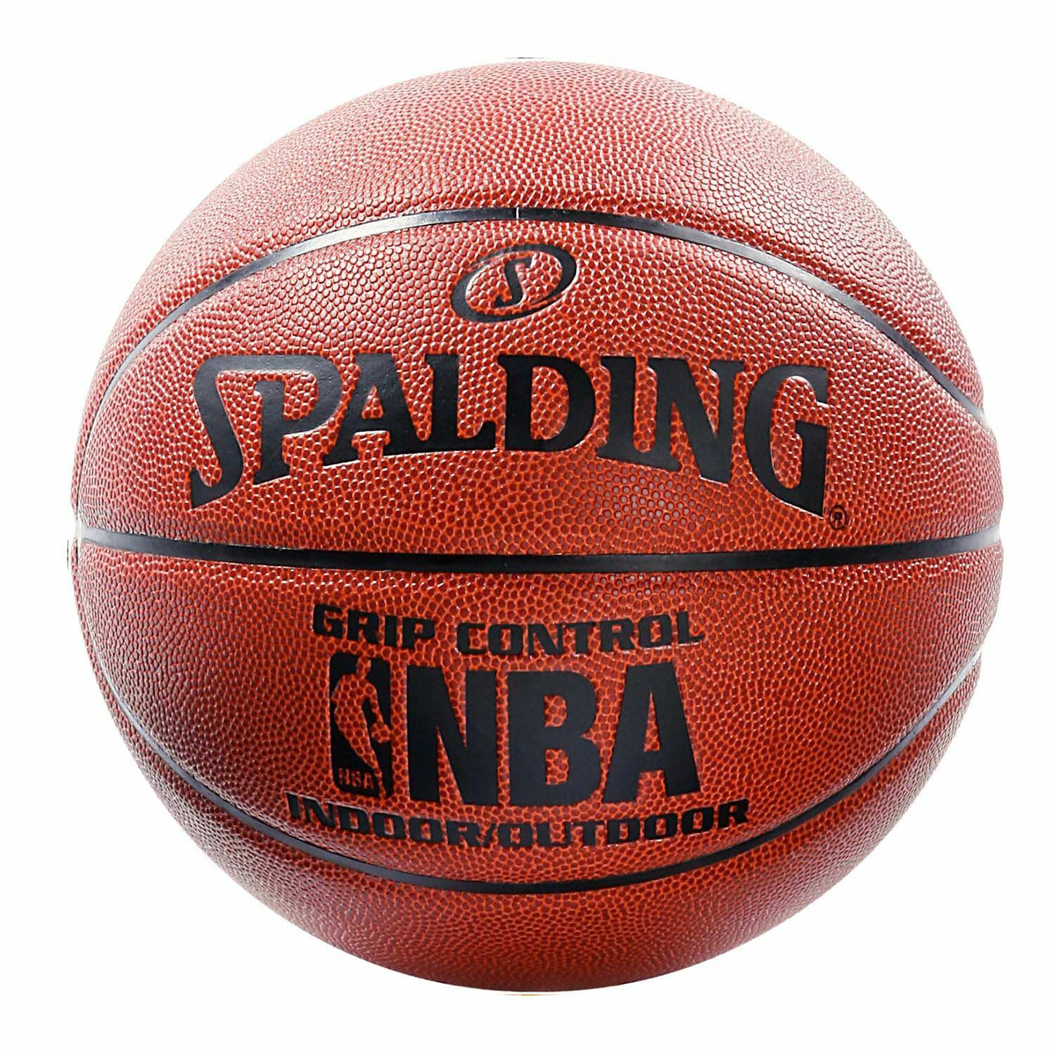 Spalding NBA Grip Control Official Composite Leather Indoor Outdoor Basketball