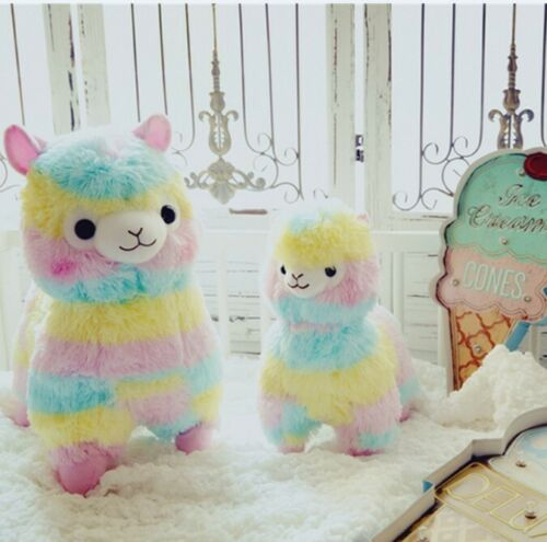 Rainbow Alpaca Vicugna Pacos Soft Alpacasso Doll Stuffed Plush Toy Kid/'s Gift