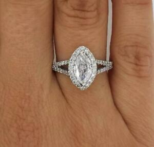 2-1-Carat-Marquise-Cut-Diamond-Engagement-Ring-VS2-F-White-Gold-18k-6279