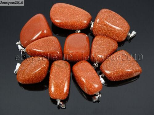 Piedras Naturales freeformed Pepita Reiki Chakras curación encanto Colgante De Perlas