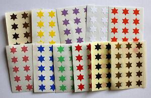 10mm-a-forma-di-stella-Colorato-ADESIVI-ADESIVO-ETICHETTE