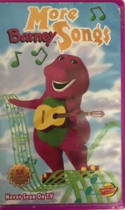 Details about More Barney Songs-VHS 1999-TESTED-RARE VINTAGE  COLLECTIBLE-SHIPS N 24 HOURS