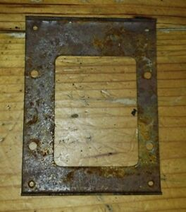 1964-1965-1966-1967-1968-Mustang-Automatic-Shifter-Bezel-Mounting-Plate-Used