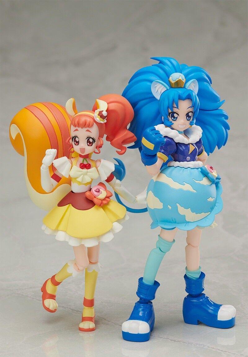 S.H.Figuarts Kirakira Precure La Mode Cure Vanillepudding & Gelato Set Figur