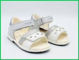 a basso prezzo e2b23 eb32a Dettagli su Geox sandali da bambina in pelle eleganti primi passi cerimonia  scarpe per bimba
