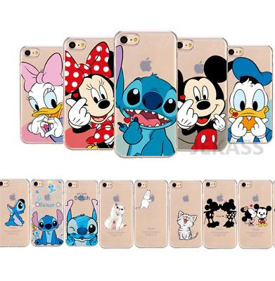 COVER SILICONE IPHONE 6s 7 8 X XR 11 pro Disney Stitch topolino minnie paperina | eBay
