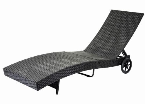 Poly Rattan Lounge Sonnenliege Gartenliege Gartenmöbel Sofa Couch mit Kissen Neu