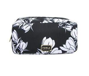 Beauty case da viaggio Furla Digit L 1055937 per make up donna e in nylon nero
