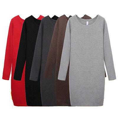 Women Winter Mirco Velvet Round Collar Woolen Thickening Top Blouse Dress Skirt