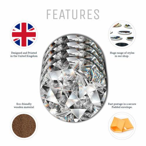 Diamond texture kaleidoscope Coasters 4 Set Kitchen Drinks Gift #3234