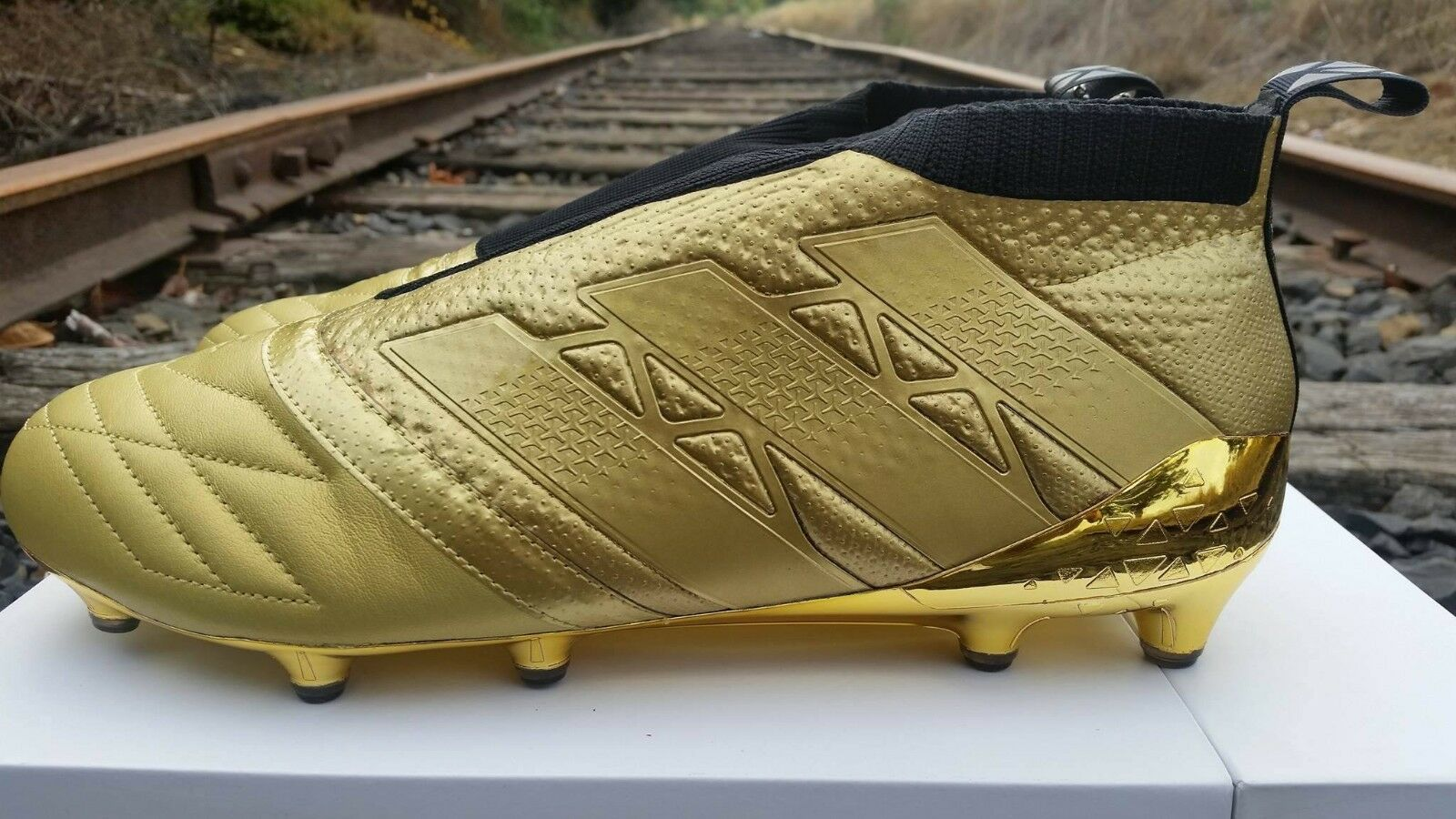Adidas ACE Gold Spacecraft 16+ PURECONTROL FG CLEATS Size 9.5 10 10.5 11