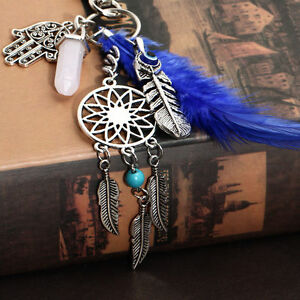 Vintage-Dream-Catcher-Keychain-Charm-Pendant-Handbag-Bag-Keyring-Key-Chain-Ring