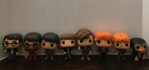 Harry Potter Funko Pop 8 Figure Lot Harry's Ron Hermione Plus Rare Pops