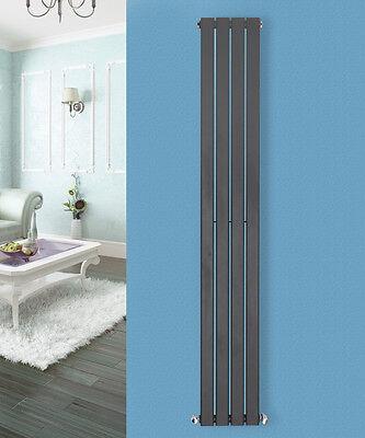 1600x272mm Vertical Flat Panel Column Designer Bathroom Radiators Gloss White