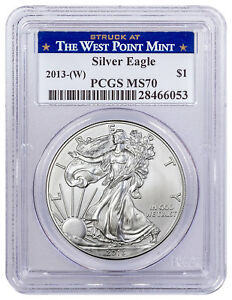 2013-W-1-oz-American-Silver-Eagle-Struck-at-West-Point-Mint-PCGS-MS70-SKU56376
