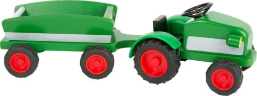 Woodfriends Traktor Trecker  mit Anhänger Holz Fahrzeuge