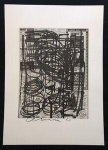 Olaf-Metzel-cinema-1-pressione-di-combinazione-1989-a-mano-firmata-e-datata