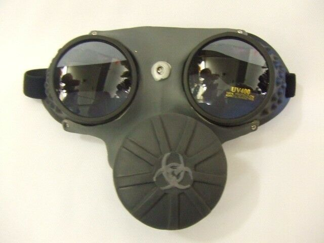Gas Mask Steampunk Glasses Cosplay Goggles Dr Who Ww1 Ww2 ...