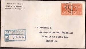 USA-1942-couverture-a-Argintina-censure-Rialto-cachet-Co-publicite