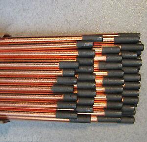 50-Electrodes-Graphite-8-00x305-mm-Recouvert-en-Cuivre-Chanfrein-X-Arc-Air