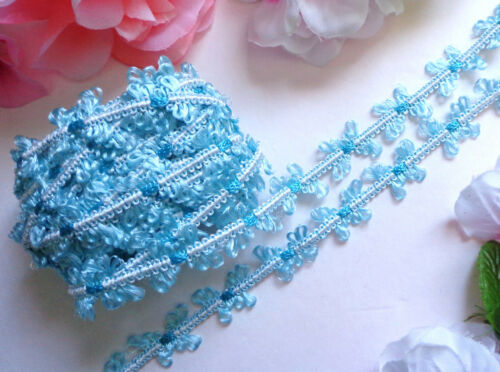 """Butterfly 3//4/"""" Poly//Rayon Braid aqua//turquoise 1 yard and 23 inch cut"""