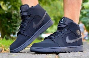 Zapatos-NIKE-AIR-JORDAN-1-MID-hombres-Zapatillas-High-Top-de-deporte-554724-040