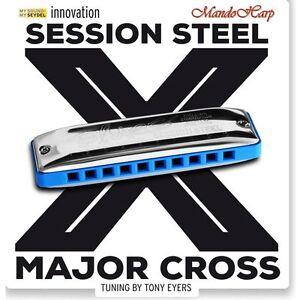 Seydel-Harmonica-10315-Session-Steel-Major-Cross-SELECT-KEY-NEW
