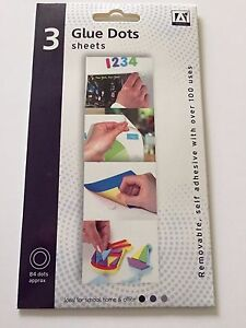 glue dots 168 sticky dots removable clear adhesive card making
