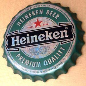 HEINEKEN-Beer-Amsterdam-Gepraegtes-Blechschild-MAKELLOS-Bier-Brauerei-KULT-MARKE