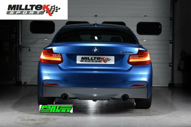 BMW 2 Series F22 M235i Coupe MILLTEK Sport 300 Cell HJS Tuning Cat & Downpipe EC