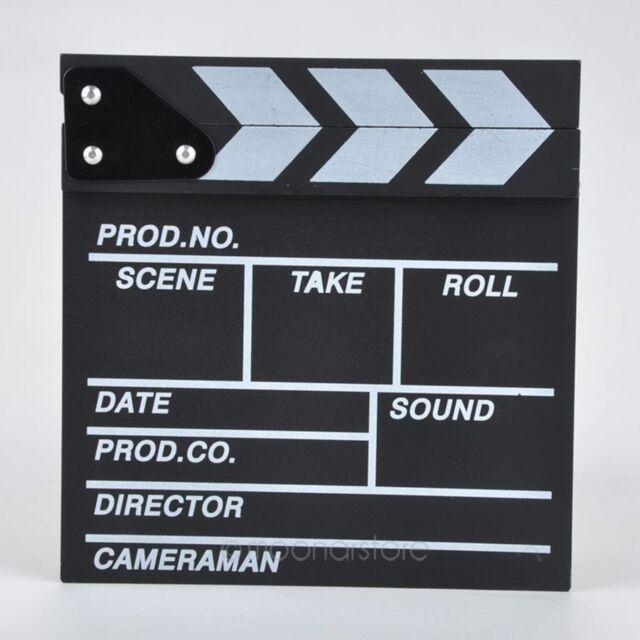Clapper Board Film Shooting Accessory Director TV Movie Video Acrylic Clapboard