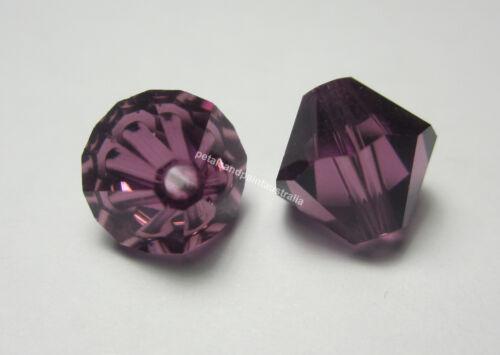 New Genuine Swarovski Amethyst Bicone #5301 Crystal Beads 4 6 /& 8mm Jewellery