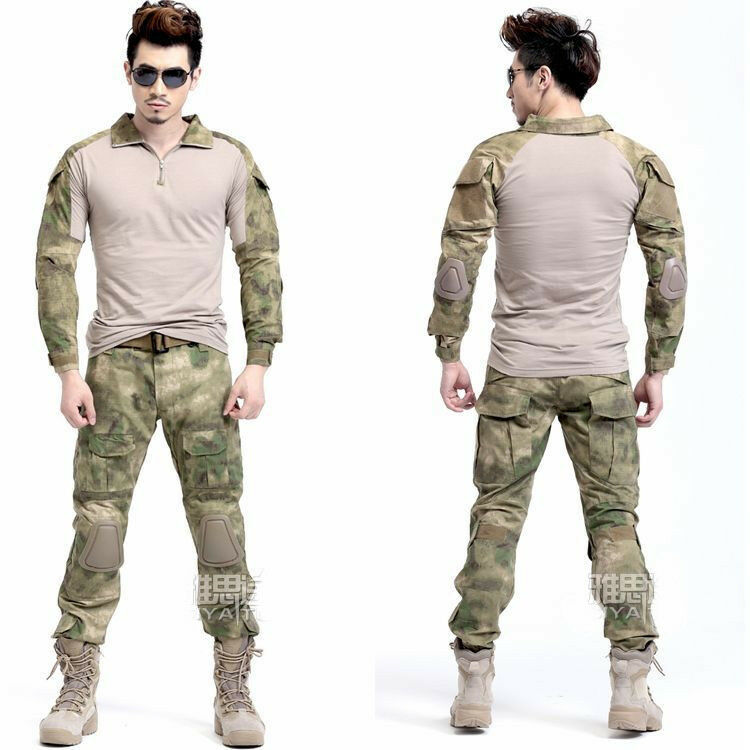 Camouflage Frog Tactical Suits Military Combat Uniform with Knee  Pads Elbow Pads  official quality