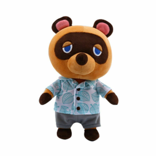 28CM Animal Crossing Tom Nook Plush Toy Raccoon Soft Stuffed Doll Anime Kid Gift