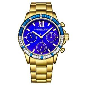 Stuhrling-3959-4-Quartz-Chronograph-Blue-Mother-of-Pearl-Bracelet-Womens-Watch
