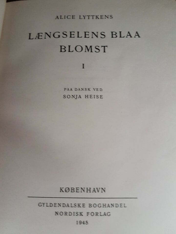 Længselens blå blomst, Alice Lyttkens, genre: roman