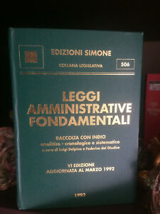 edizione simone 506 leggi amministrative fondamentali 1992 - Italia - edizione simone 506 leggi amministrative fondamentali 1992 - Italia