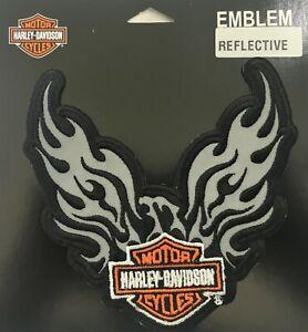 Harley-Davidson-Reflective-Phoenix-B-amp-S-5-034-Motorcycle-Vest-Sew-on-Patch-EM347062