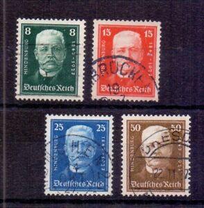 Dt-Reich-1927-Hindenburg-MiNr-403-406-gestempelt-Michel-65-00-436