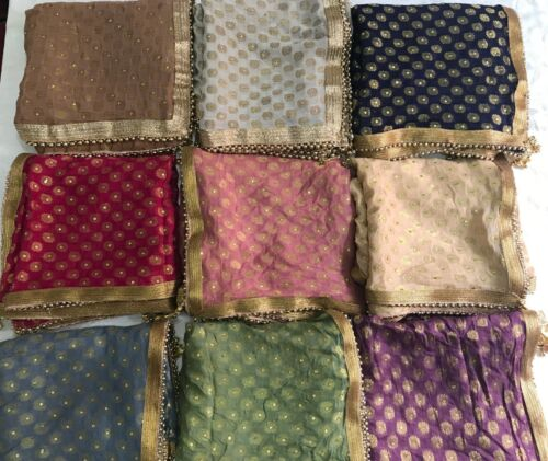 Indian Party Dupatta NEW COLOURS ADDED Scarfs