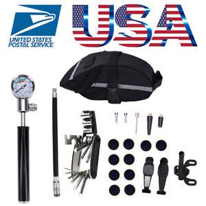 Bicycle-MTB-Repair-Tools-Kit-Set-Mountain-Bike-Cycle-Puncture-Tyre-Pump-with-Bag