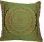 Indian-patchwork-mandala-sari-ethnic-silk-Banarsi-cushion-covers-mandala-16-034-x16-034 thumbnail 6