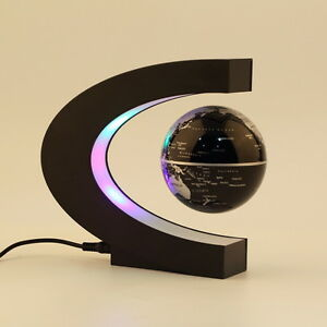 Schwebender-Deko-Globus-Weltkugel-Schwebeglobus-politisch-mit-Beleuchtung-HN