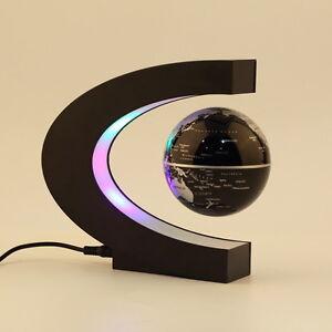 Schwebender-Deko-Globus-Weltkugel-Schwebeglobus-politisch-mit-Beleuchtung-YW