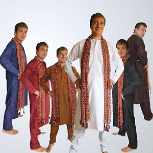 SHERWANI-KURTA-Groesse-XL-52-54-Herren-Anzug-Kurta-Indien-Bollywood-Meditation