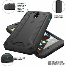 For Moto G4 POETIC Revolution Dust Resistant+Built-In Screen Protector Black