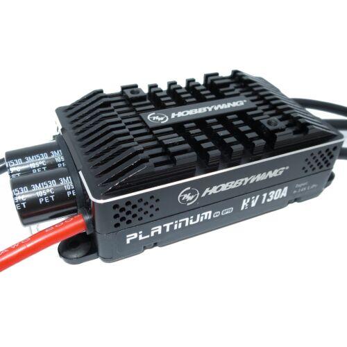 HobbyWing Platinum 130A HV V4 ESC 6S-14S OPTO Regler bürstenloser Motor