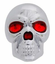 """SKULL 1.25"""" & 2"""" TRAILER TOWING HITCH RECEIVER COVER WITH LED EYES BRAKE LIGHT"""